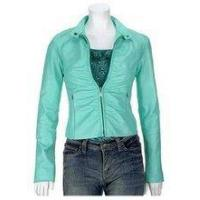 China Alaina Ladies Leather Jacket in Baby Blue on sale