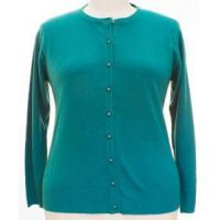 China NWT Jon Anna Womens Plus Size 1X Teal Cardigan Sweater Button Down on sale