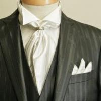 Quality Black Suit With Ascot Tie for sale