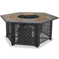 Quality Blue Rhino Uniflame LP Propane Gas Fire Pit Table With Hexagon Slate Tile Mantel - GAD1374SP for sale