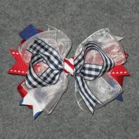 China 4th of July - Girl's Hair Bow on sale