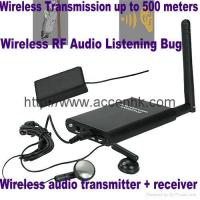 Quality Wireless RF Audio Transmitter Spy Listening Bug Sound Pickup 500M Transmission for sale