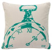Quality Bedroom BECKY BROOME TURQUOISE & BEIGE POCKET WATCH FEATHER & COTTON CUSHION for sale