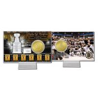 Quality Boston Bruins Six Time Stanley Cup Champions Bronze Coin Card for sale