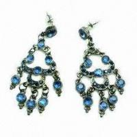 Best Fashion earring ,Dangle Drop Earrings with Rhinestone Main Stone for Gift 10g wholesale