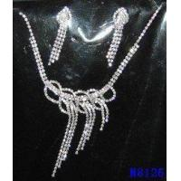 Buy cheap OEM Rhinestone Opal Jewelry Crystal Necklace and Earring Set for women from wholesalers