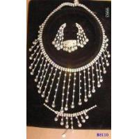 Best Charming Diamond Jewelry Crystal Necklace and Earring Set for Engagement wholesale