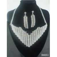 Buy cheap OEM European Standard Silver Jewelry Crystal Necklace and Earring Set for Party from wholesalers