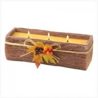 China Triple-Wick Bark Candle[12042] on sale