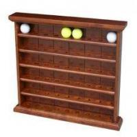 Best OEM Wooden Display Stands Golf Ball Cabinet With Clock For 54 Pieces Of Golf Ball wholesale