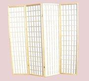 China 4 Panel Room Divider Wood Screen *(Buy 1 get 1 Free) on sale