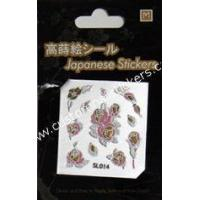 China cell phone decoration accessories adhesive japanese cell phone stickers Flower Design on sale
