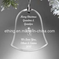 Quality Personalized Glass Bell Christmas Ornaments (OR-1102) for sale
