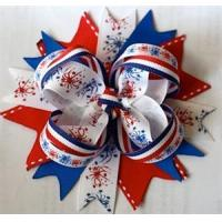 China Fireworks Fourth of July Dog Bow on sale
