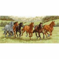 China Cross Stitch & Tapestry Galloping Free, a counted cross stitch kit by DMC, BK1170 on sale