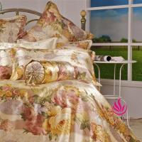 China Seamless Silk Charmeuse Bedding Set Printed Pattern BSS047 on sale