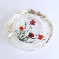 Best flower pressed crystal ashtray,furnishings,decoration wholesale