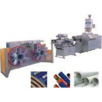 China PA/PE/PP/PVC single wall corrugated pipe extrusion line on sale