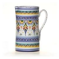 """Quality Spanish Straight Sided Majolica 10"""" Pitcher for sale"""