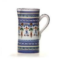Quality Spanish Straight Sided Majolica Pitcher for sale