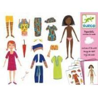 Quality Arts & Crafts Djeco Paper Dolls- Costumes Of The World for sale