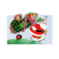 China Christmas Cards Christmas Golf Bag Card on sale