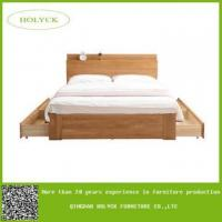 China wood king bed frame with drawers on sale