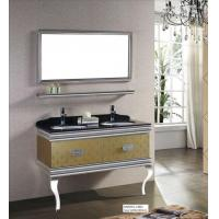 China Floor Standing Stainless Steel Bathroom Cabinet on sale
