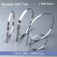 Quality E1272 Stainless Steel Tie (7.6mm x 150mm) for sale