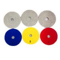 China 3 Step Polishing Pads Granite Stone / Wet Diamond Polishing Blocks 3mm Thickness on sale