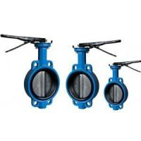 Quality wafer butterfly valve EPDM NBR seat one stem with pin for sale