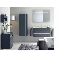 China Lowes PVC Wash Basin Bathroom Mirror Cabinets Vanity Combo with Light on sale