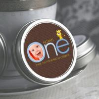 China Personalized Baby Boys First Birthday Mint Tins on sale