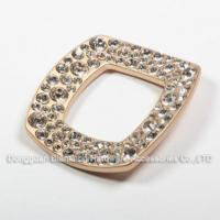 China plate The Square Metal Rhinestones Decoration Trims for shoes or Bags on sale