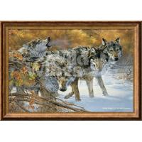 Quality Framed Canvas Body Language—Timberwolf; Framed Gallery Canvas for sale