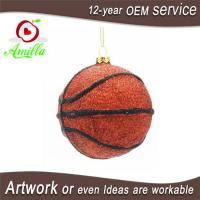 Quality Personalized Hand Blown Glass Basketblall For Christmas Tree Ornaments for sale