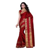 China Wedding Sarees mimosa women's artificial silk saree kanchipuram uppada style, color :maroon(... on sale