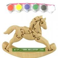 China Puzzle 3D nature animal puzzle- rocking horse (DIY toys) on sale