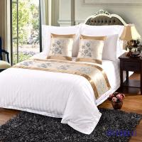 Hot sale high quality elegant Bed runner and cushion cover for hotel