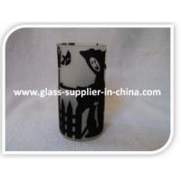 Quality Glass printing Bat flocked glass for sale