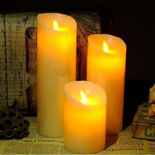 Buy 10CM Diameter Flameless Wax Candles at wholesale prices