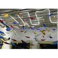 Quality Zibo Unique Murano Style Glass Hanging Fish For Hotel Villa Ceiling Decoration YJ-9 for sale