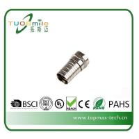 China Big Discount Crimp F Connector For RG6 Coaxial Cable on sale