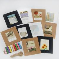 China Cardboard paper handmade paper photo frame/picture frame on sale