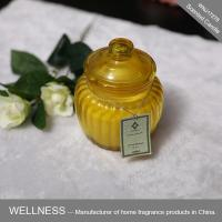 Scented soy candle in glass jar-WNJ17278