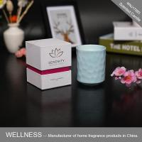 Scented candle in ceramic bottle with gift box-WNJ17283