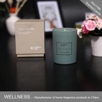 Luxury scented candle in glass jar with gift box-WNJ17286
