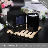 Natural scented soy candle in glass jar with gift box-WNJ17289