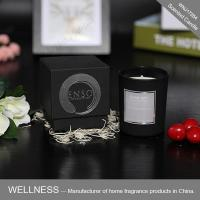 Lovely scented candle in glass jar with gift box-WNJ17264