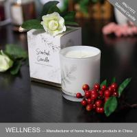 Scented soy candle in glass jar with folding box-WNJ17272